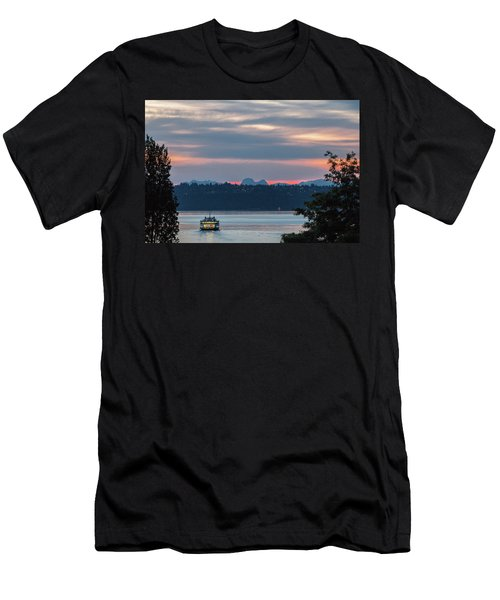 Ferry Tillikum At Dawn Men's T-Shirt (Athletic Fit)