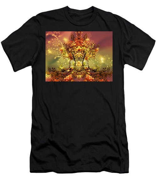 Festive Fractal Men's T-Shirt (Athletic Fit)