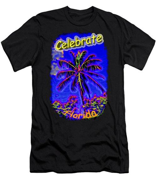 Festive Palm Men's T-Shirt (Athletic Fit)