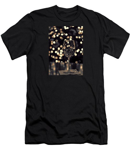 Men's T-Shirt (Athletic Fit) featuring the photograph Festive White Wine by Steven Sparks