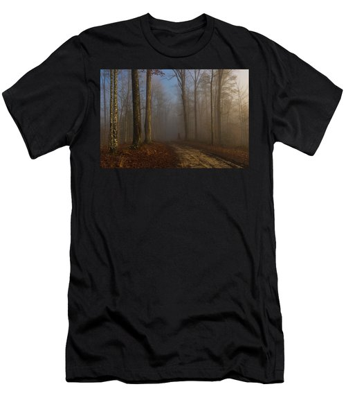Foggy Morning In The Forest Men's T-Shirt (Athletic Fit)