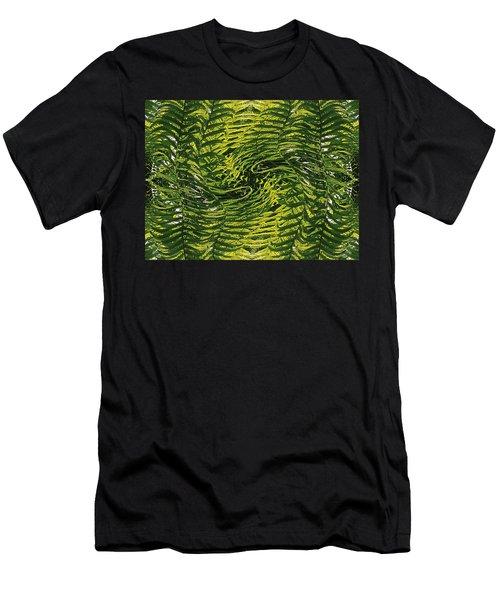 Men's T-Shirt (Slim Fit) featuring the photograph Fiddlehead Fern Wild Frenzy by Joy Nichols