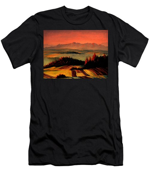 Field And Mountain Men's T-Shirt (Athletic Fit)
