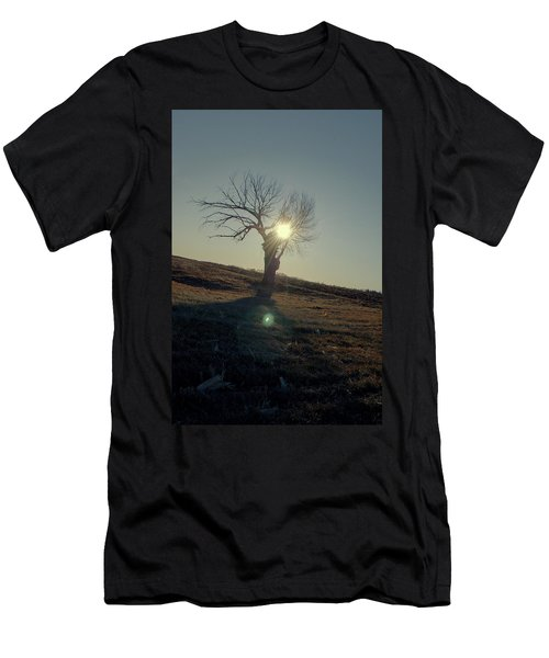 Field And Tree Men's T-Shirt (Athletic Fit)