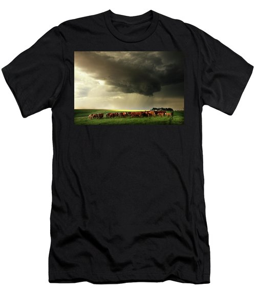 Field Of Beams Men's T-Shirt (Athletic Fit)