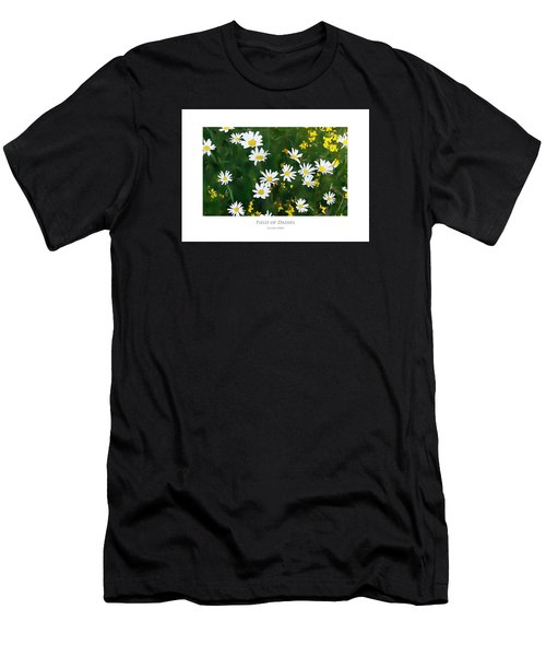 Men's T-Shirt (Athletic Fit) featuring the digital art Field Of Daisies by Julian Perry