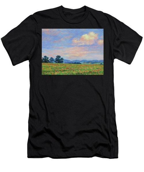 Field Of Flowers- Burkes Garden Fields Men's T-Shirt (Athletic Fit)