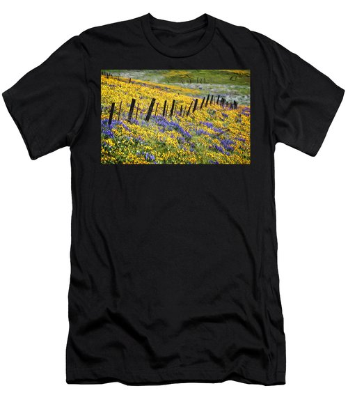 Field Of Gold And Purple Men's T-Shirt (Athletic Fit)