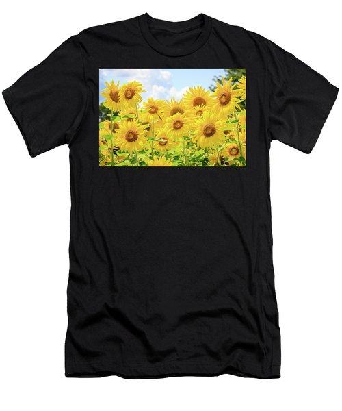 Field Of Sunflower Sunshine Men's T-Shirt (Athletic Fit)