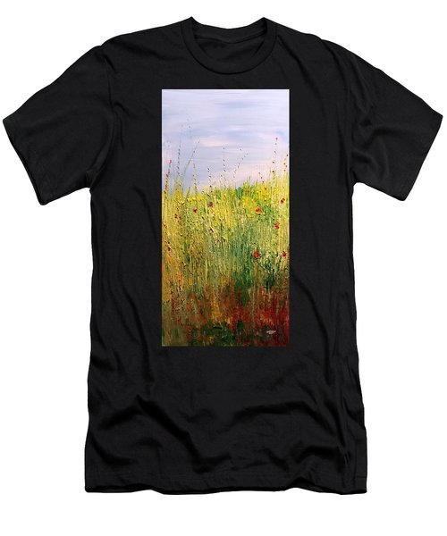 Field Of Wild Flowers Men's T-Shirt (Athletic Fit)