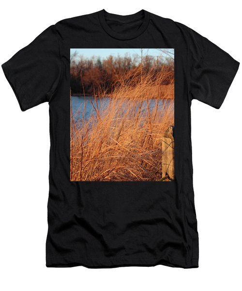 Amber Brush On The River Men's T-Shirt (Athletic Fit)