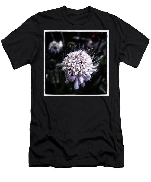 Men's T-Shirt (Athletic Fit) featuring the photograph Field Scabious. A Member Of The by Mr Photojimsf