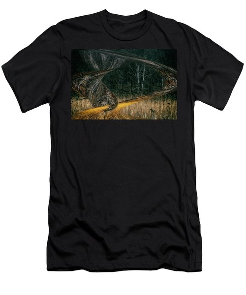 Field Warping Men's T-Shirt (Athletic Fit)