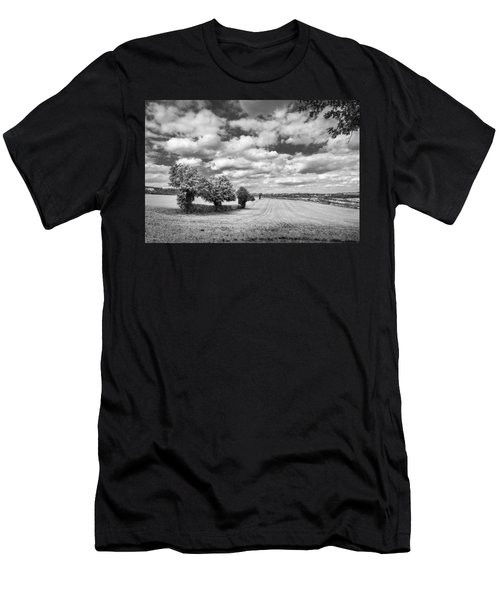 Fields And Clouds Men's T-Shirt (Athletic Fit)