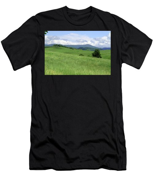 Fields And Hills  Men's T-Shirt (Athletic Fit)