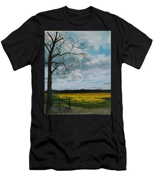 Fields Of Yellow Men's T-Shirt (Athletic Fit)