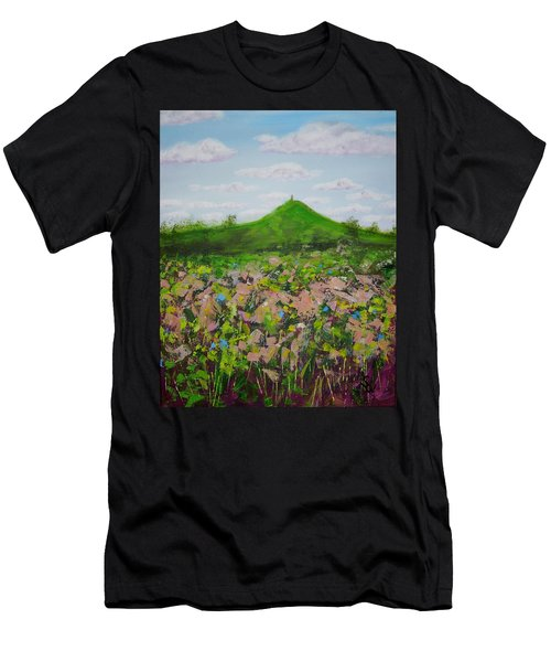 Fields To Glastonbury Tor Men's T-Shirt (Athletic Fit)