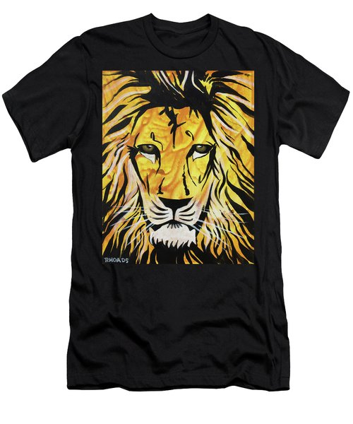 Men's T-Shirt (Athletic Fit) featuring the painting Fierce Protector 2 by Nathan Rhoads