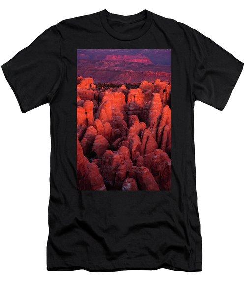 Fiery Furnace Men's T-Shirt (Slim Fit) by Dustin LeFevre