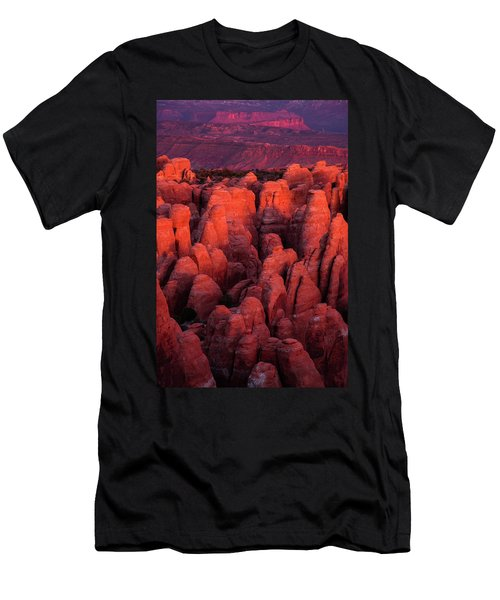 Men's T-Shirt (Athletic Fit) featuring the photograph Fiery Furnace by Dustin LeFevre