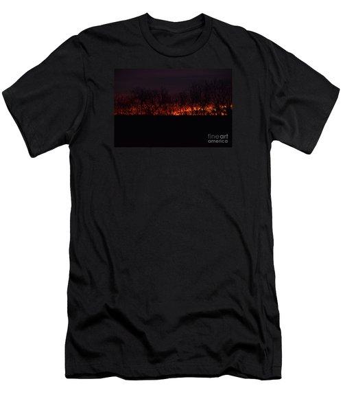 Fiery Kansas Sky Men's T-Shirt (Athletic Fit)