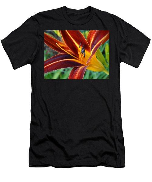 Fiery Lilies In Bloom Men's T-Shirt (Athletic Fit)