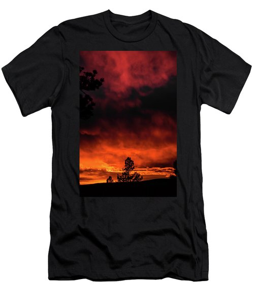 Fiery Sky Men's T-Shirt (Athletic Fit)