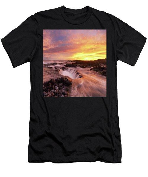 Fiery Sunset Men's T-Shirt (Athletic Fit)