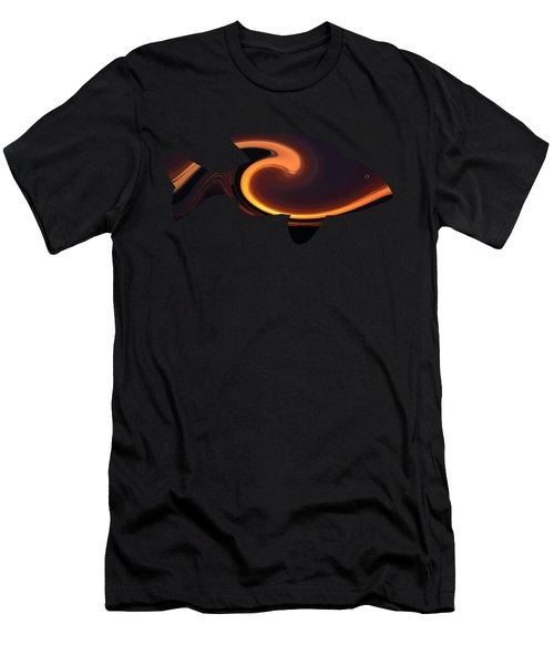 Fiery Wave Fish Men's T-Shirt (Athletic Fit)