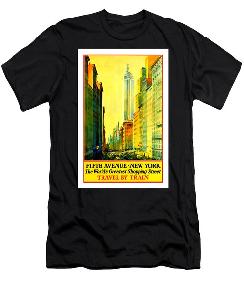 Fifth Avenue New York Travel By Train 1932 Men's T-Shirt (Athletic Fit)