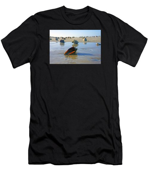 Fighting Conchs On The Sandbar Men's T-Shirt (Athletic Fit)