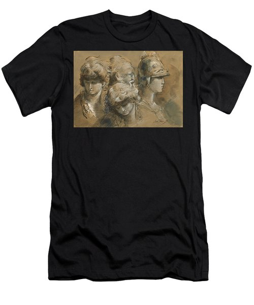 Figures Drawing Men's T-Shirt (Athletic Fit)