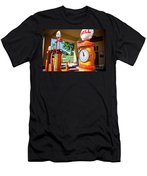 Men's T-Shirt (Slim Fit) featuring the photograph Fillin' Station by Randall Cogle