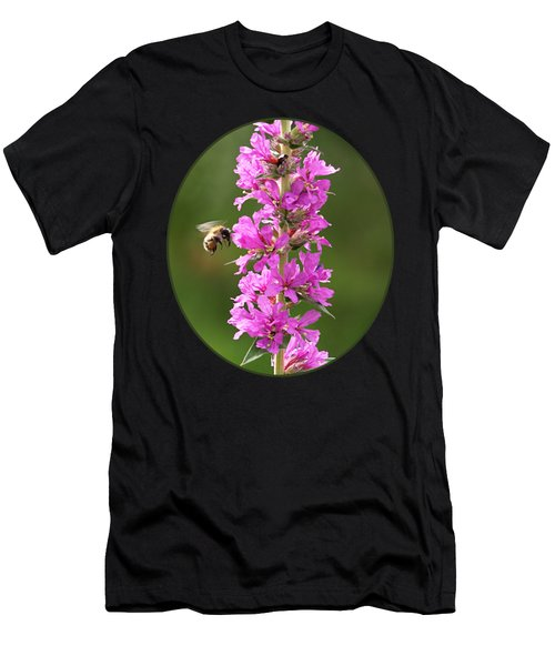 Final Approach - Bee On Purple Loosestrife Men's T-Shirt (Athletic Fit)
