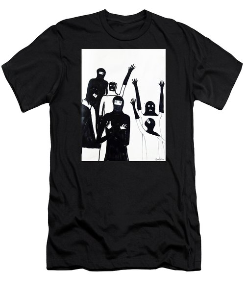 Men's T-Shirt (Slim Fit) featuring the drawing Final Call by Lyric Lucas