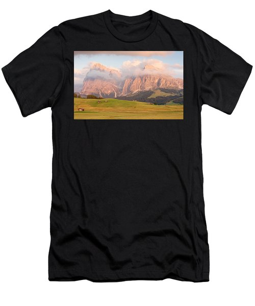 Final Light Hits The Langkofel And Sassoungo Men's T-Shirt (Athletic Fit)