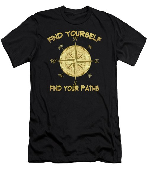 Find Yourself Find Your Paths Men's T-Shirt (Slim Fit) by Georgeta Blanaru
