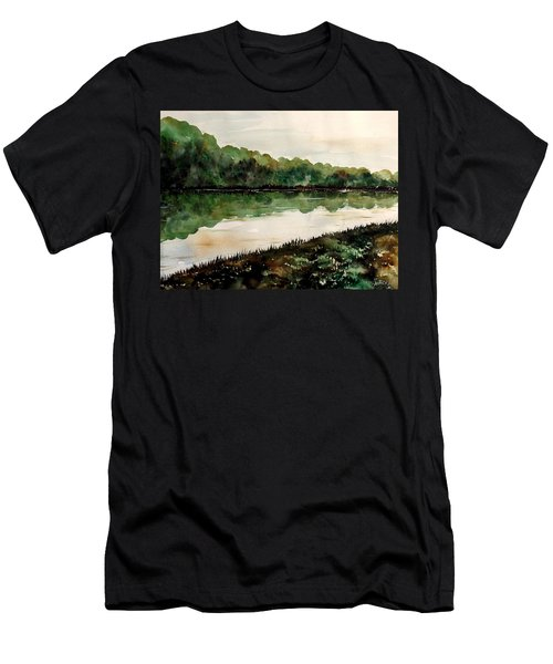 Finding The Place To Cross Men's T-Shirt (Slim Fit) by Lisa Aerts