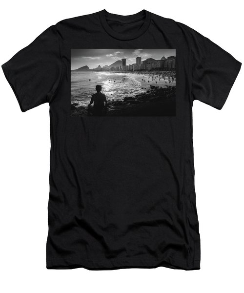Fine Art Copacabana Rio De Janeiro, Brazil Men's T-Shirt (Athletic Fit)