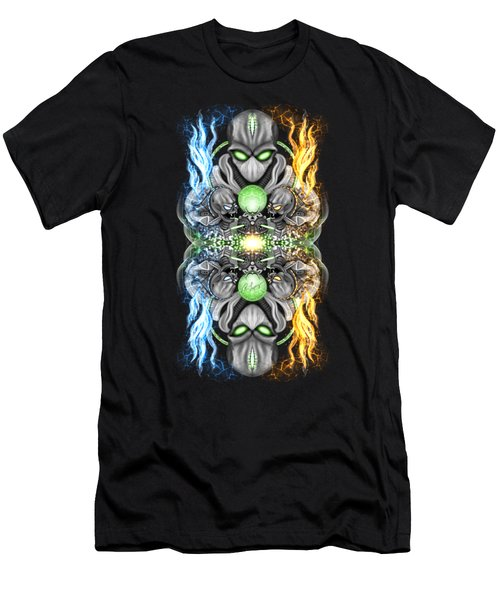 Fire And Ice Alien Time Machine Men's T-Shirt (Athletic Fit)