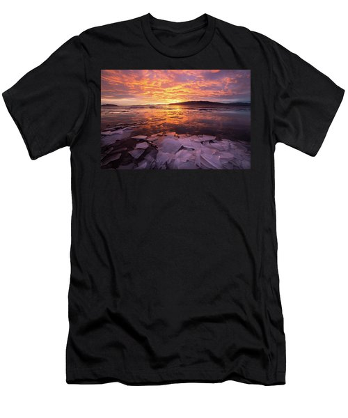 Men's T-Shirt (Athletic Fit) featuring the photograph Fire And Ice by Wesley Aston
