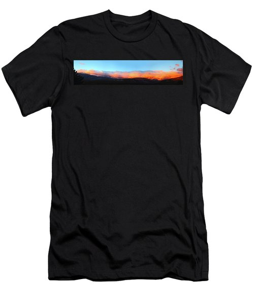 Fire Clouds - Panorama Men's T-Shirt (Athletic Fit)