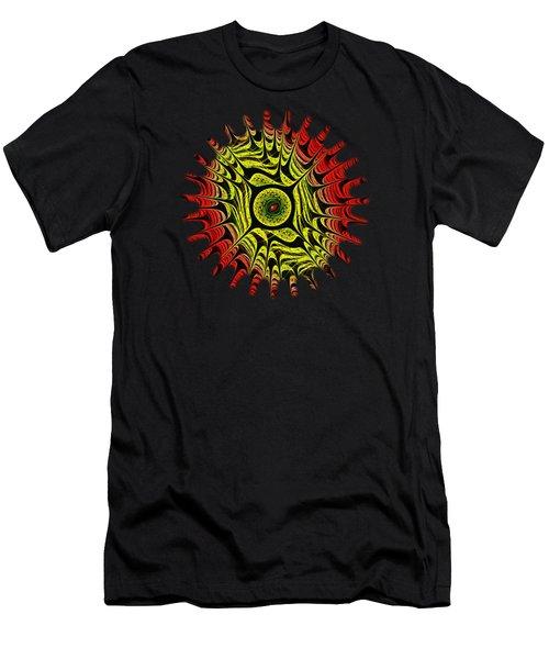 Fire Dragon Eye Men's T-Shirt (Slim Fit) by Anastasiya Malakhova