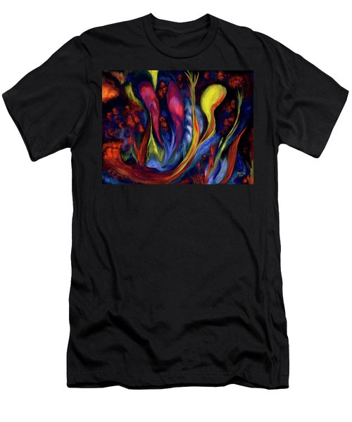 Fire Flowers Men's T-Shirt (Athletic Fit)