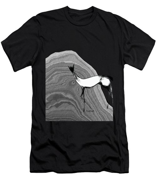 Fire Horse Men's T-Shirt (Slim Fit) by Asok Mukhopadhyay