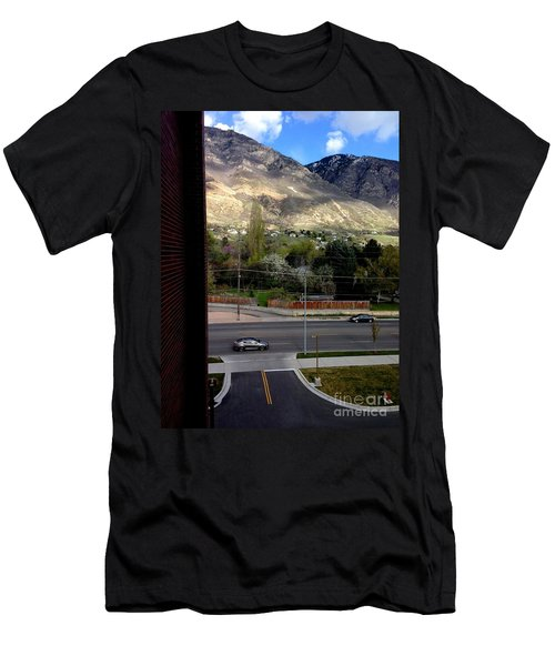Fire Hydrant Guarding The Byu Y Men's T-Shirt (Athletic Fit)