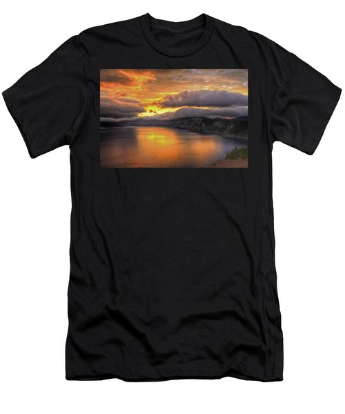 Fire In The Lake #1 Men's T-Shirt (Athletic Fit)