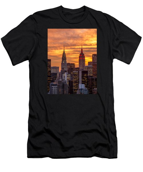 Fire In The Sky Men's T-Shirt (Slim Fit) by Anthony Fields