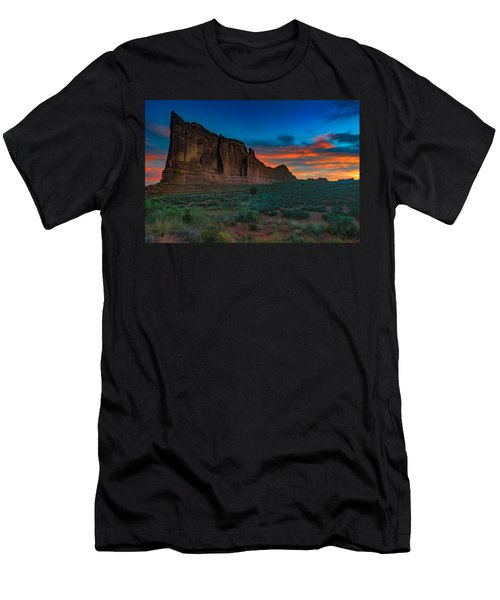 Fire In The Sky At The Tower Of Babel Men's T-Shirt (Athletic Fit)