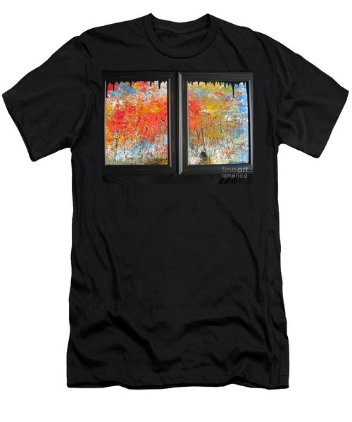 Fire On The Prairie Men's T-Shirt (Slim Fit) by Jacqueline Athmann